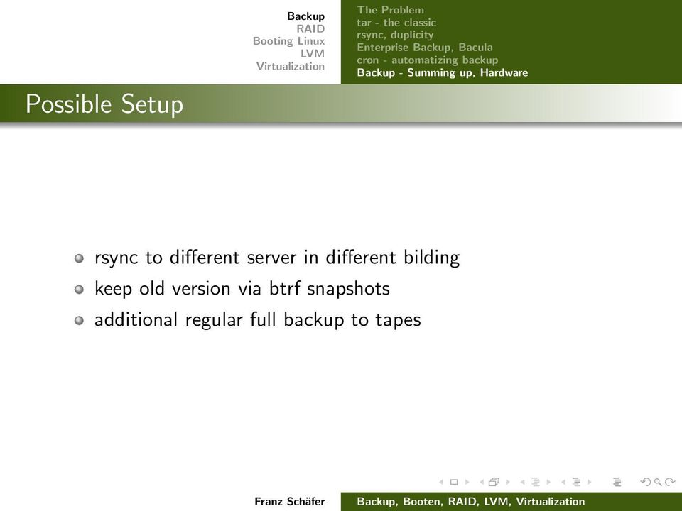 up, Hardware rsync to different server in different bilding keep old