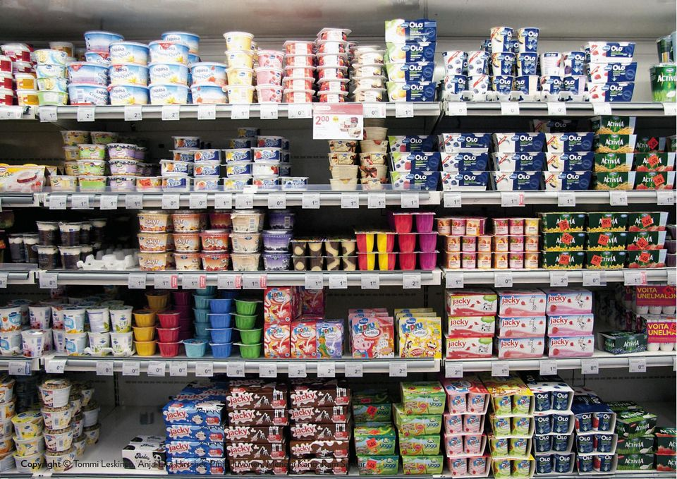 choose your yoghurt in the store?