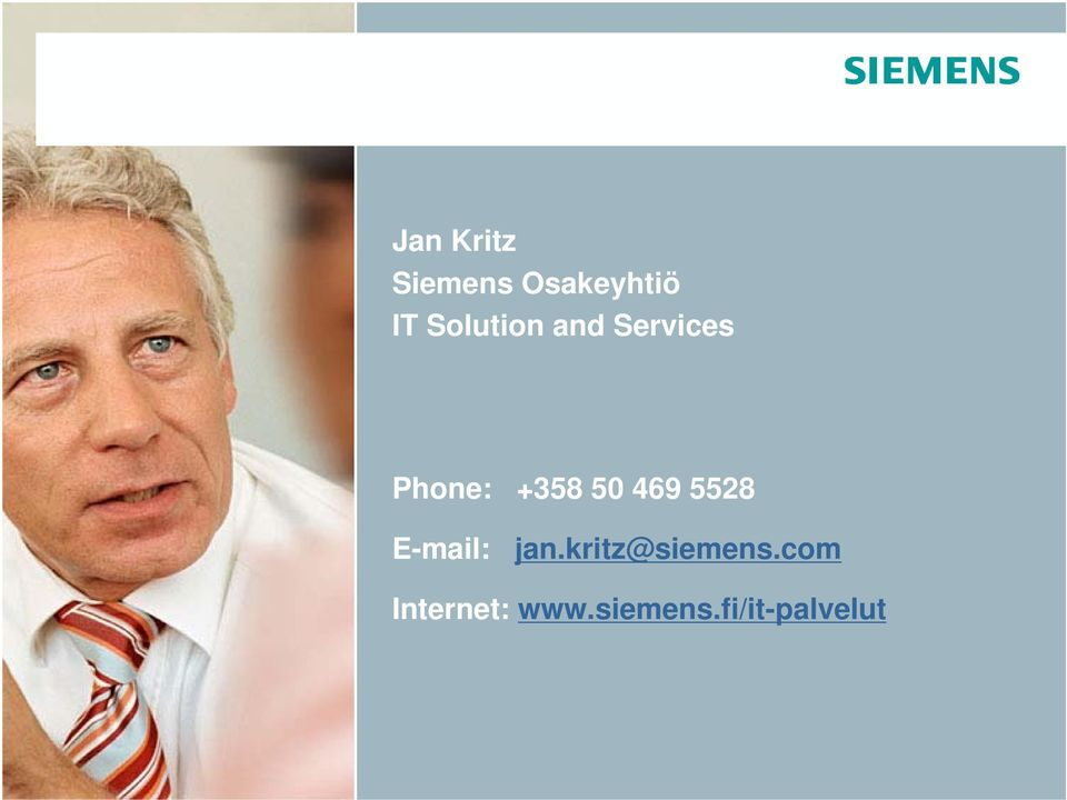 50 469 5528 E-mail: jan.kritz@siemens.