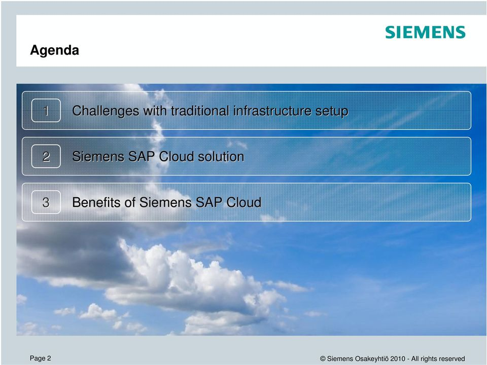 setup 2 Siemens SAP Cloud