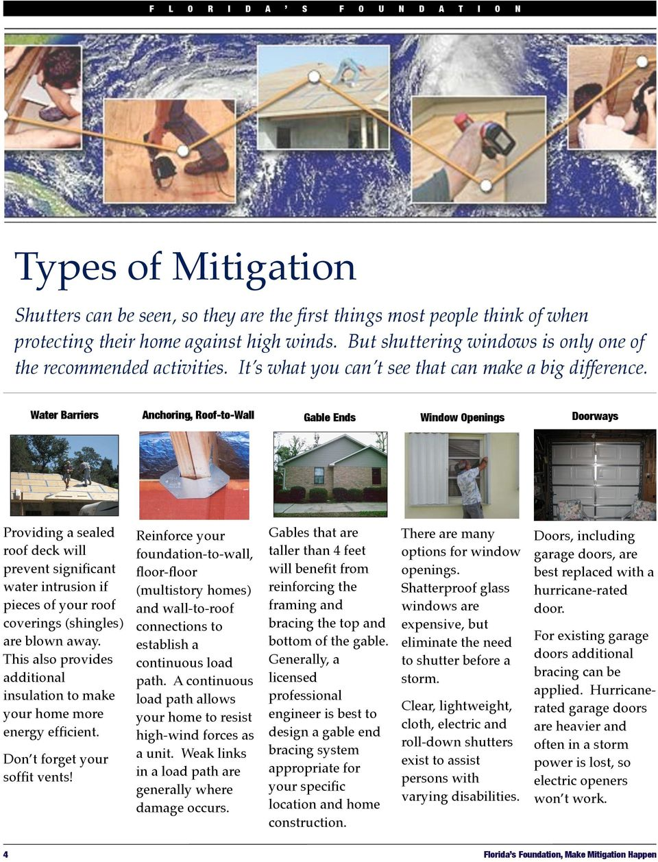 Water Barriers Anchoring, Roof-to-Wall Gable Ends Window Openings Doorways Providing a sealed roof deck will prevent significant water intrusion if pieces of your roof coverings (shingles) are blown