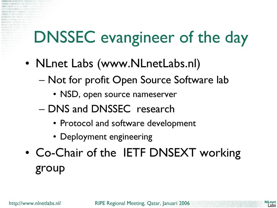 nameserver DNS and DNSSEC research Protocol and software
