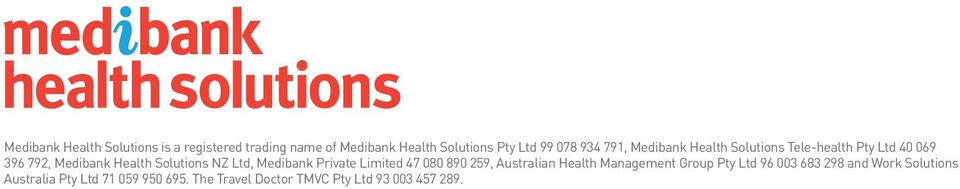 Ltd, Medibank Private Limited 47 080 890 259, Australian Health Management Group Pty Ltd 96 003 683