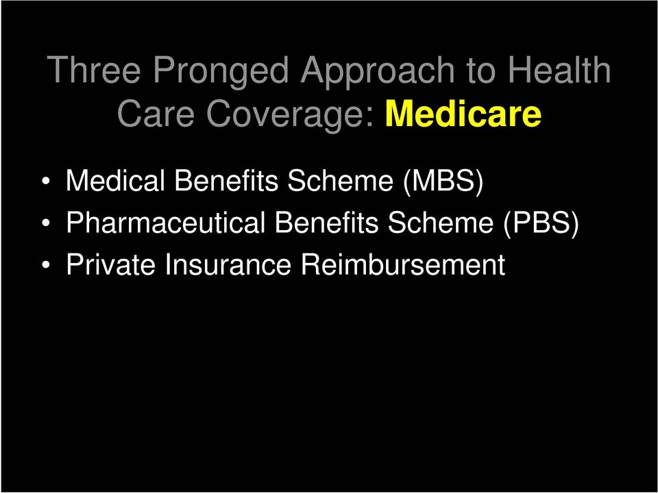 Scheme (MBS) Pharmaceutical Benefits