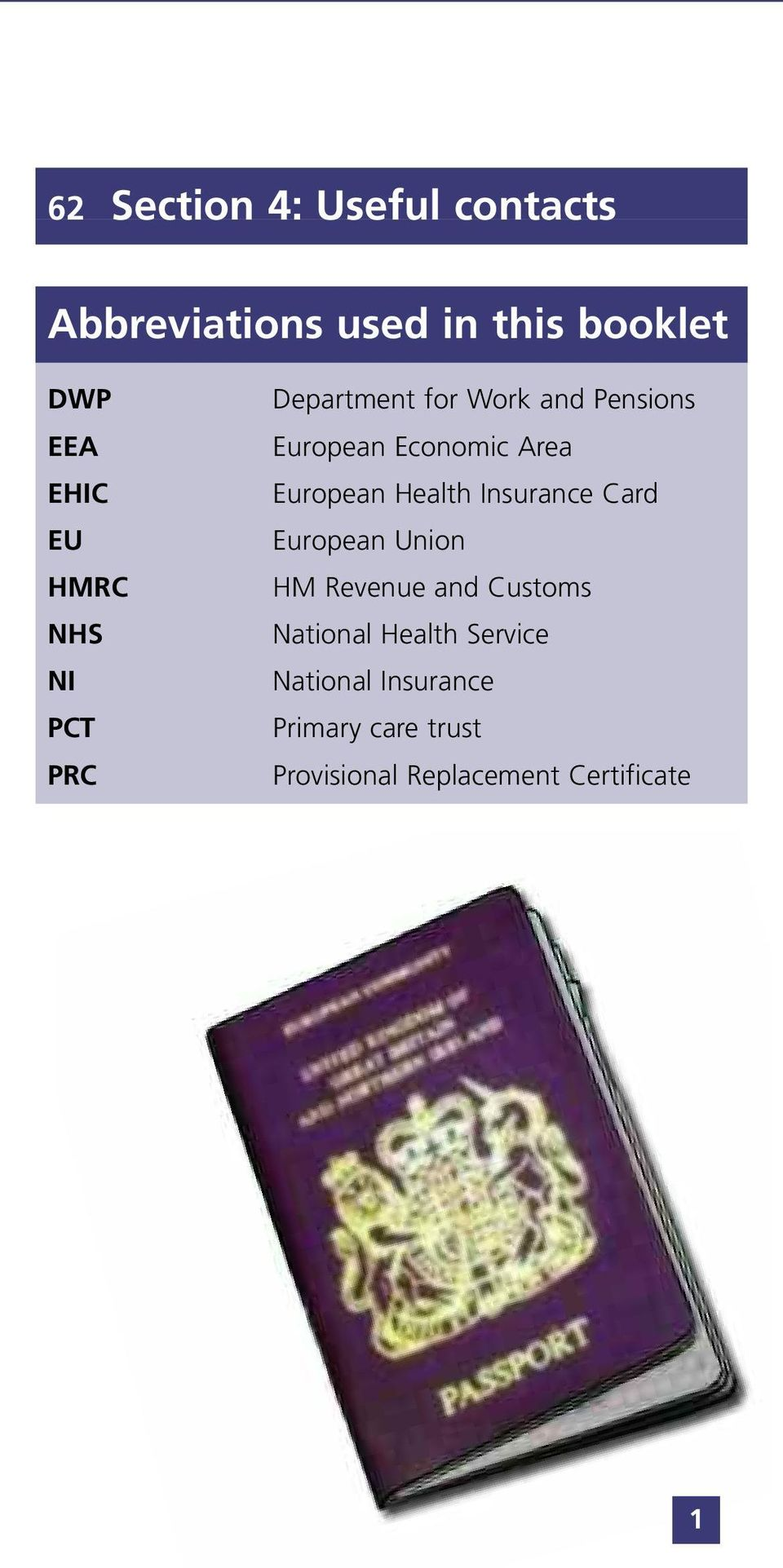 European Health Insurance Card European Union HM Revenue and Customs National
