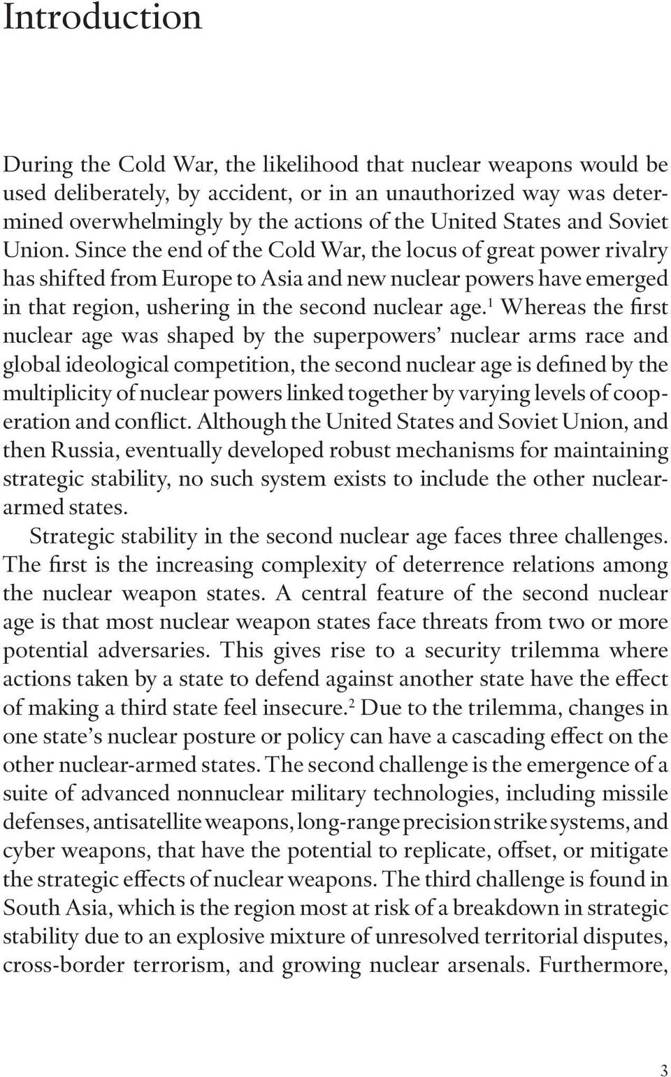 nuclear weapons stability or instability Not so mad why nuclear stability is under  nuclear weapons,  than in the cold war have raised fears that a new era of strategic instability may be .