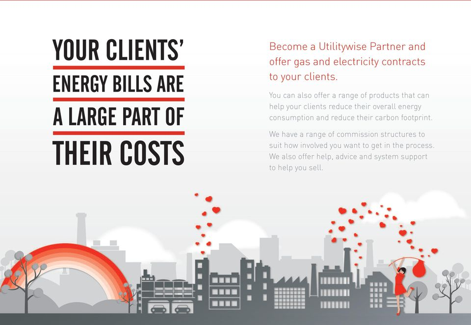 You can also offer a range of products that can help your clients reduce their overall energy consumption and