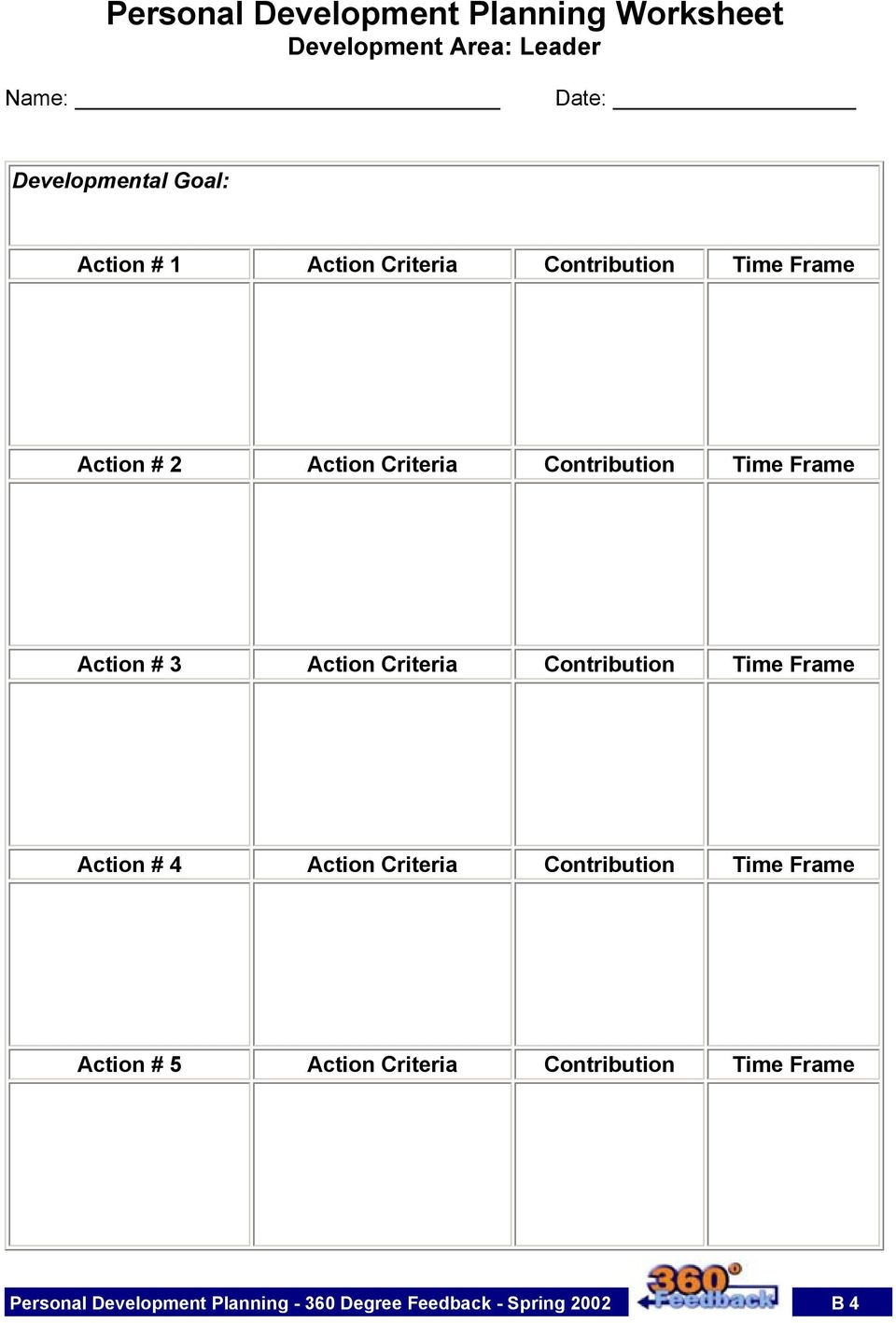 Action Criteria Contribution Time Frame Action # 4 Action Criteria Contribution Time Frame Action # 5