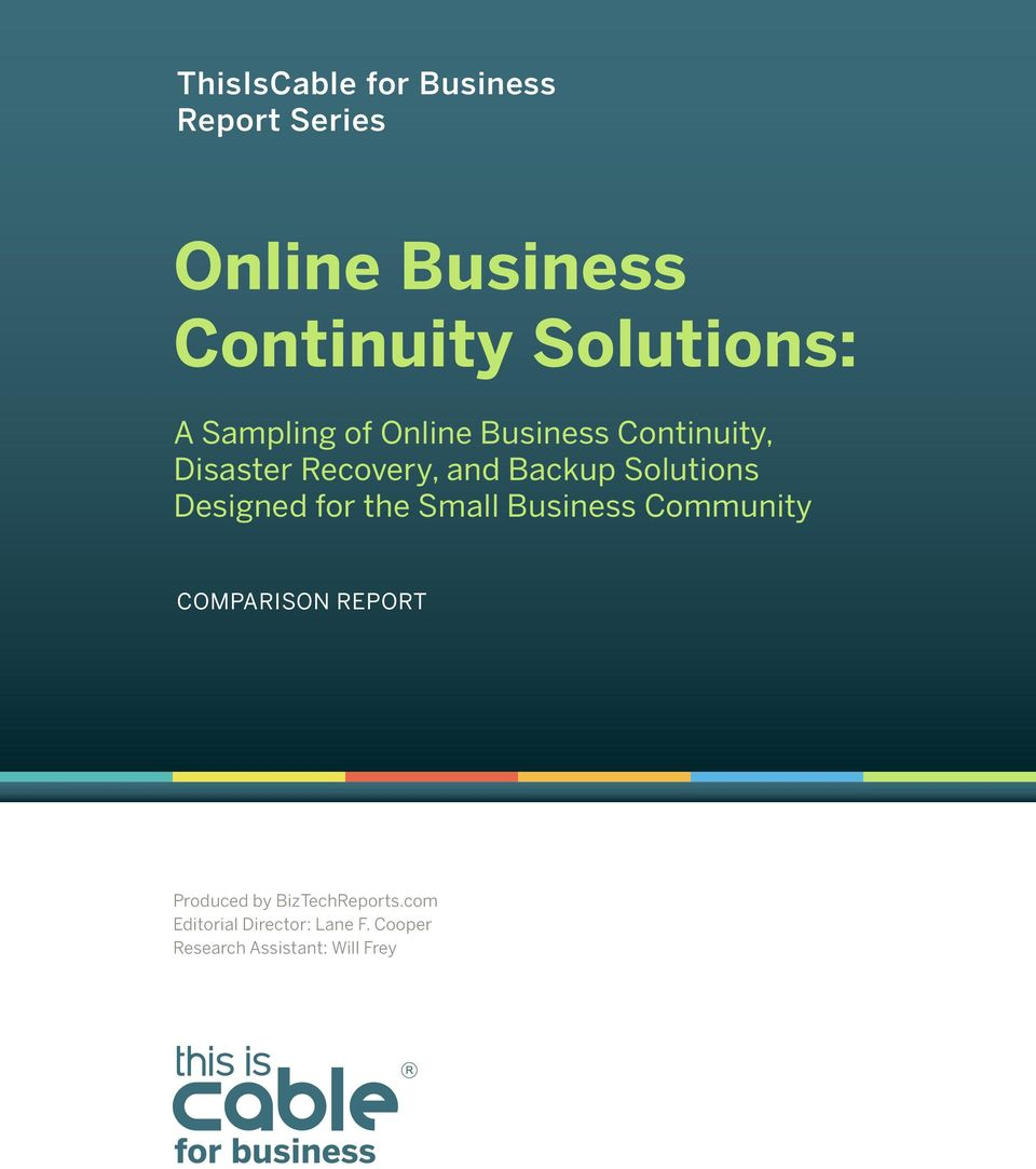 Solutions Designed for the Small Business Community Comparison Report Produced