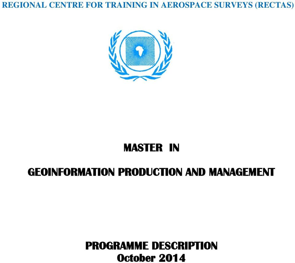 IN GEOINFORMATION PRODUCTION AND