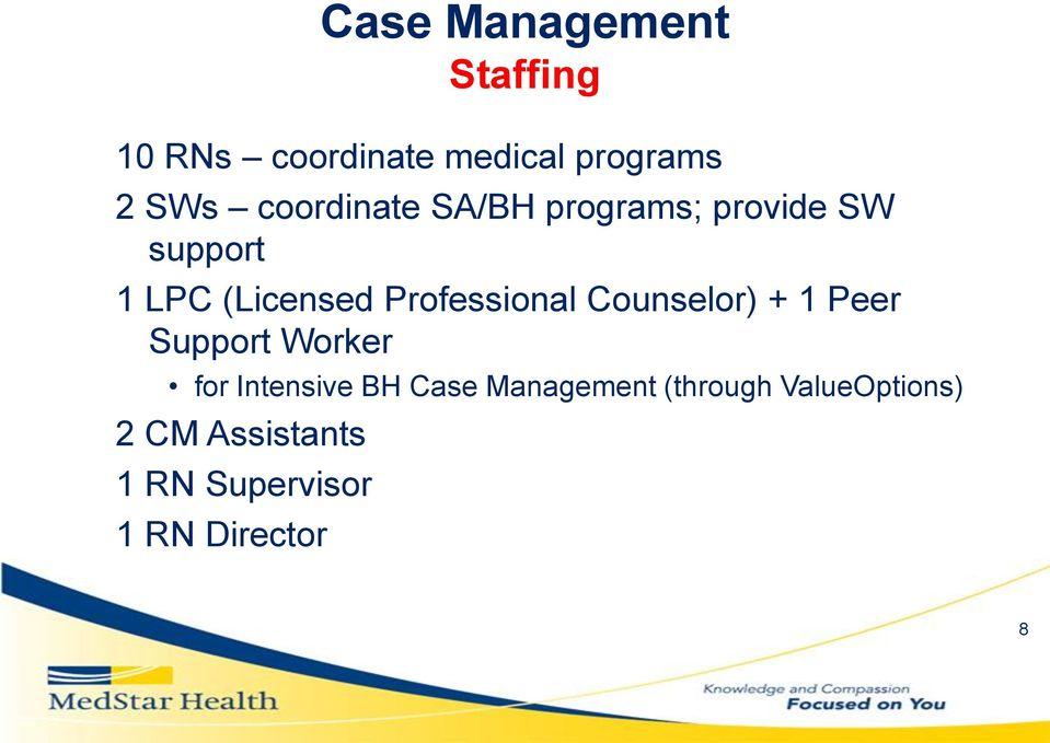 Support Worker for Intensive BH Case Management (through