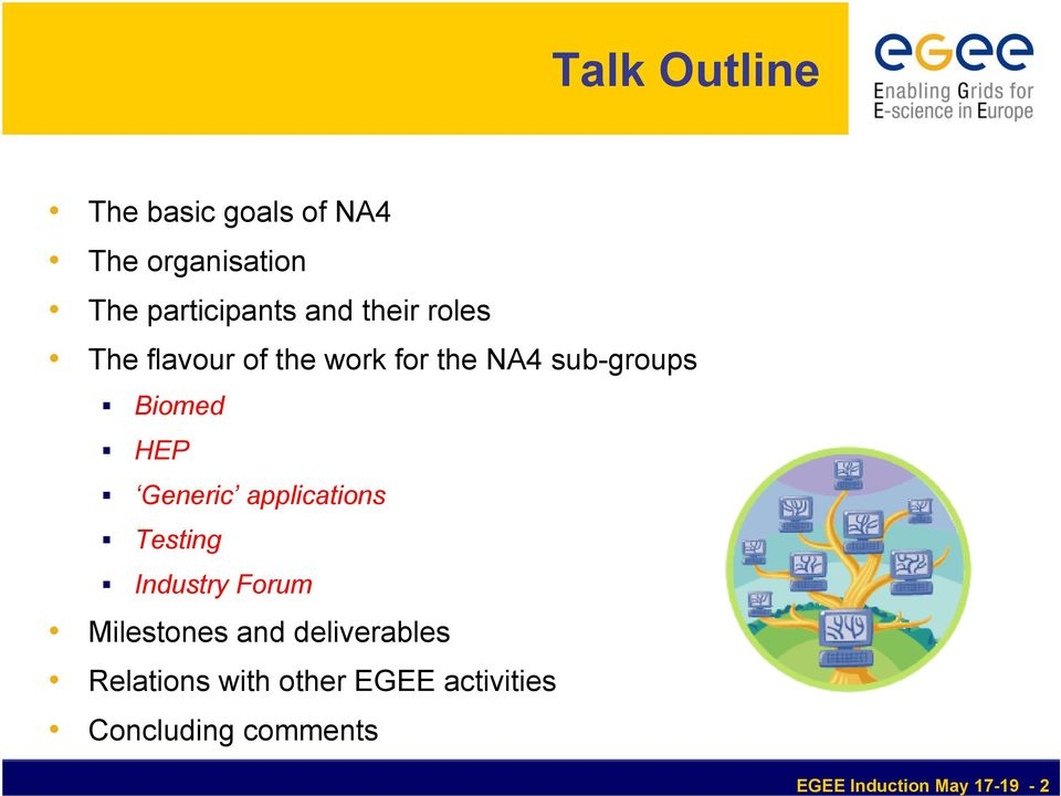Generic applications Testing Industry Forum Milestones and deliverables