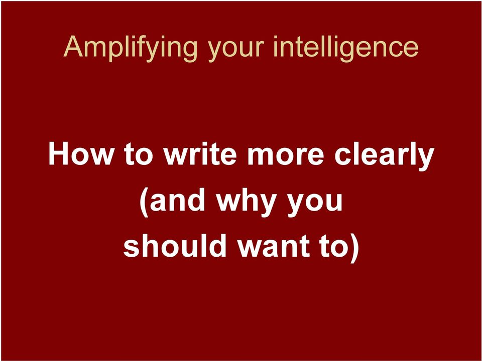 write more clearly