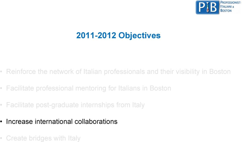 professional mentoring for Italians in Boston Facilitate