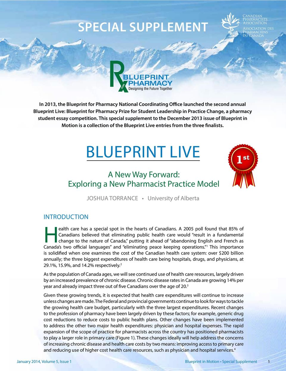 Special supplement a new way forward exploring a new pharmacist blueprint live a new way forward exploring a new pharmacist practice model 1 st joshua malvernweather Choice Image