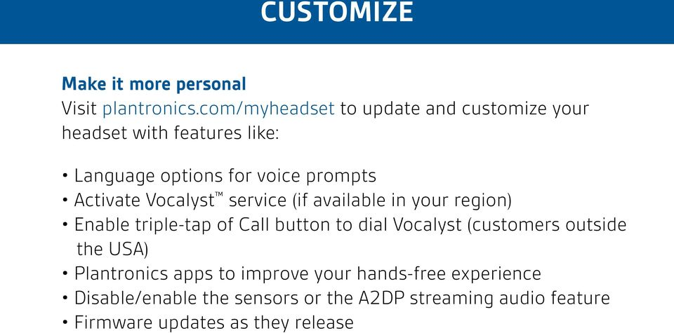 Activate Vocalyst service (if available in your region) Enable triple-tap of Call button to dial Vocalyst