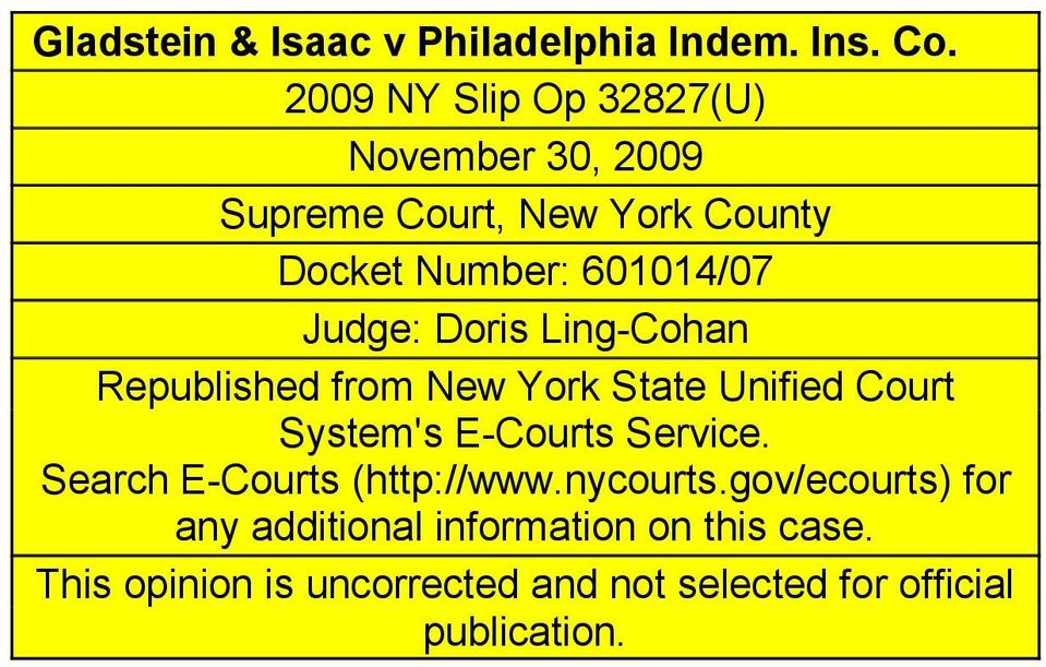 Judge: Doris Ling-Cohan Republished from New York State Unified Court System's E-Courts Service.