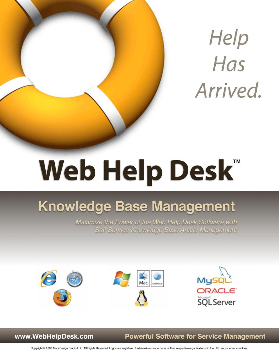Power of the Web Help Desk Software with Self Service