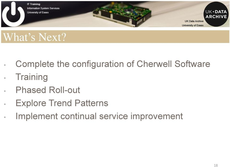 Cherwell Software Training Phased