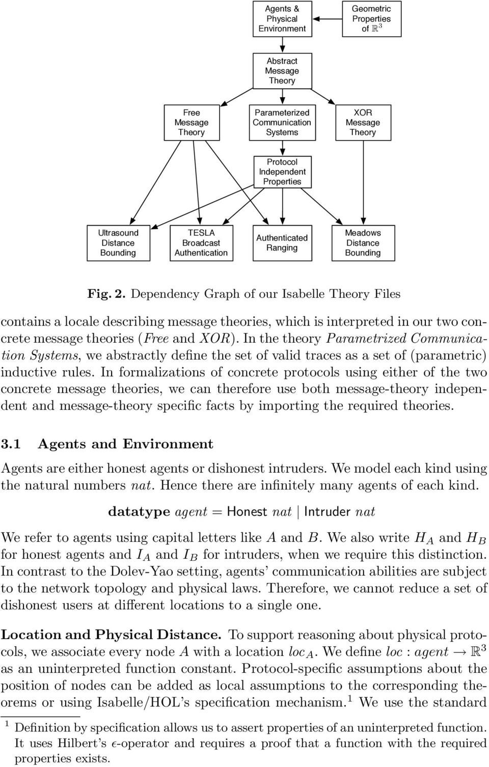 Dependency Graph of our Isabelle Theory Files contains a locale describing message theories, which is interpreted in our two concrete message theories (Free and XOR).
