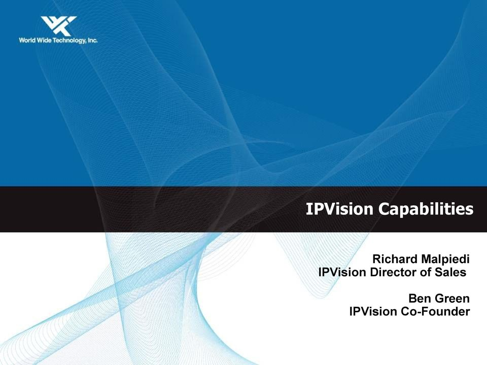 IPVision Director of
