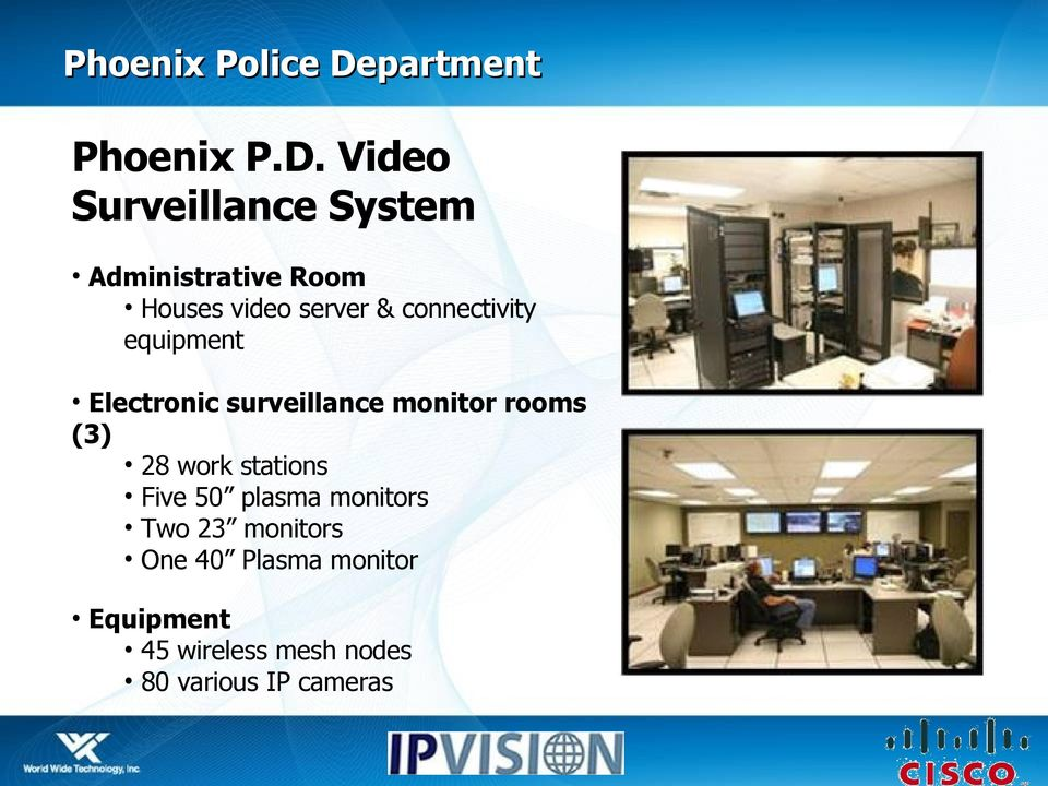 Video Surveillance System Administrative Room Houses video server &