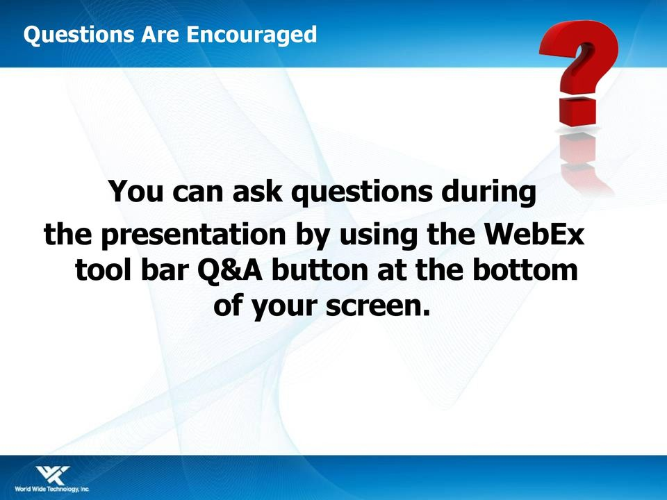 presentation by using the WebEx