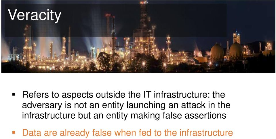 launching an attack in the infrastructure but an entity