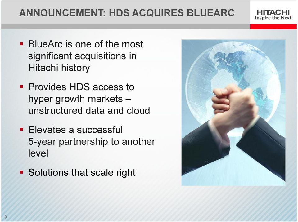 to hyper growth markets unstructured data and cloud Elevates a