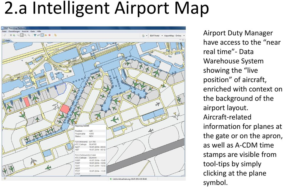 background of the airport layout.