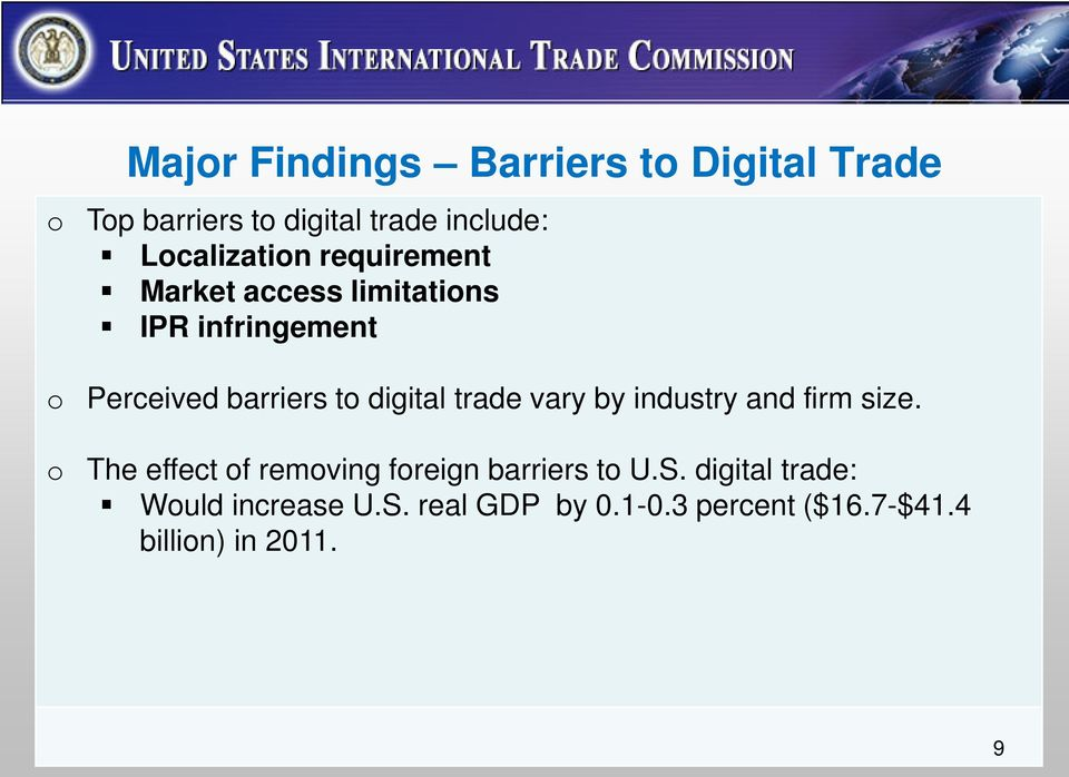digital trade vary by industry and firm size.