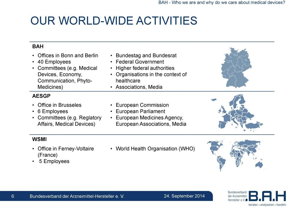 Reglatory Affairs, Medical Devices) Bundestag and Bundesrat Federal Government Higher federal authorities Organisations in the context of healthcare