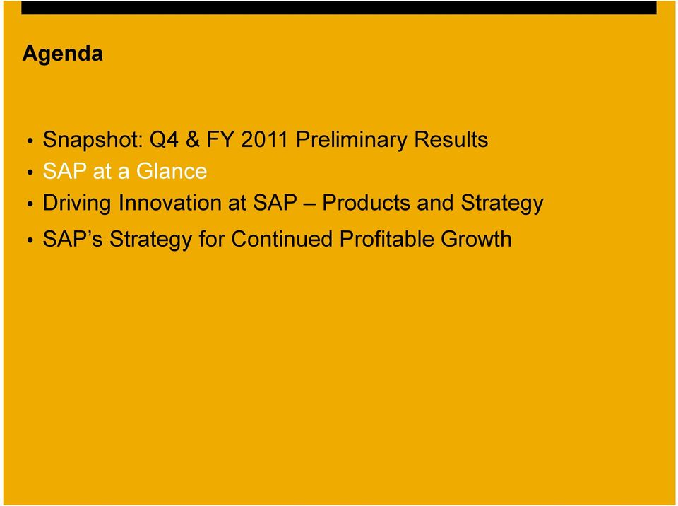 Driving Innovation at SAP Products and