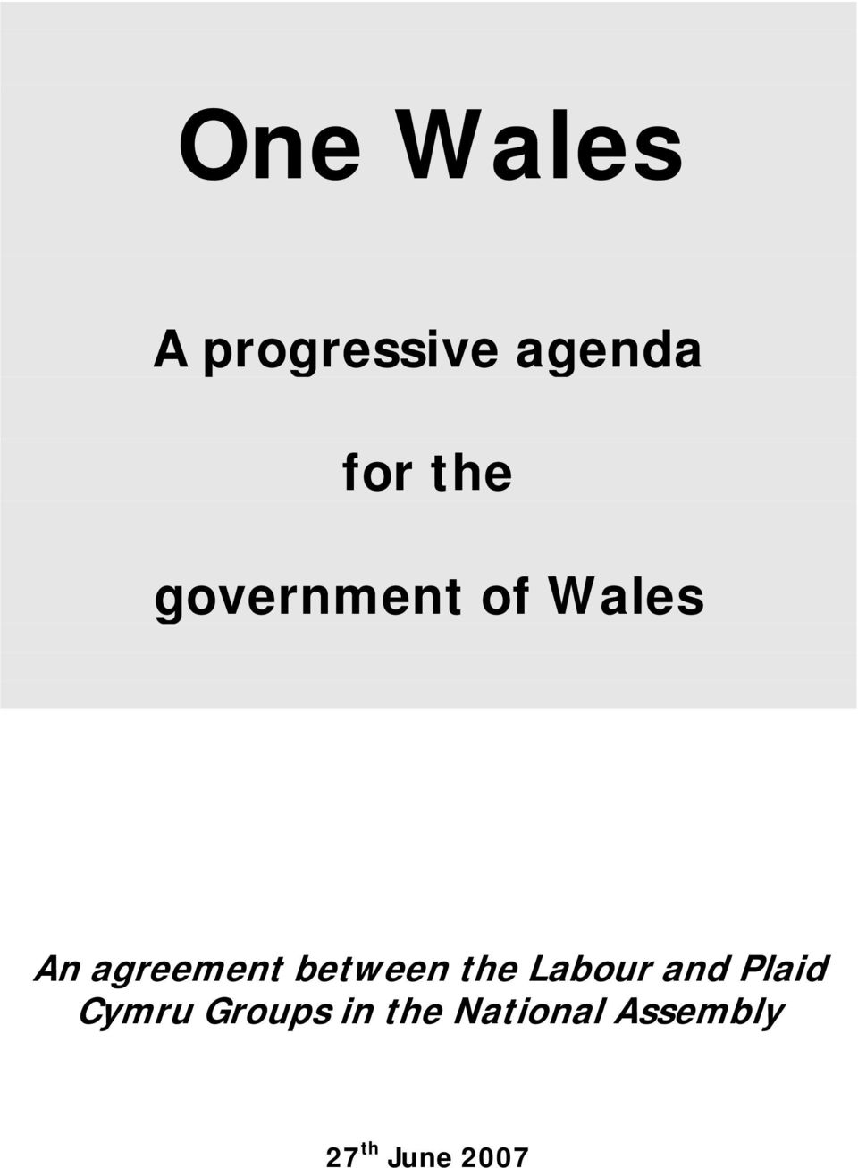 between the Labour and Plaid Cymru