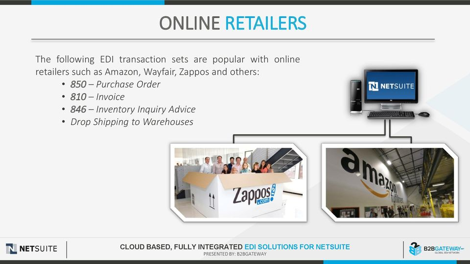 Wayfair, Zappos and others: 850 Purchase Order 810