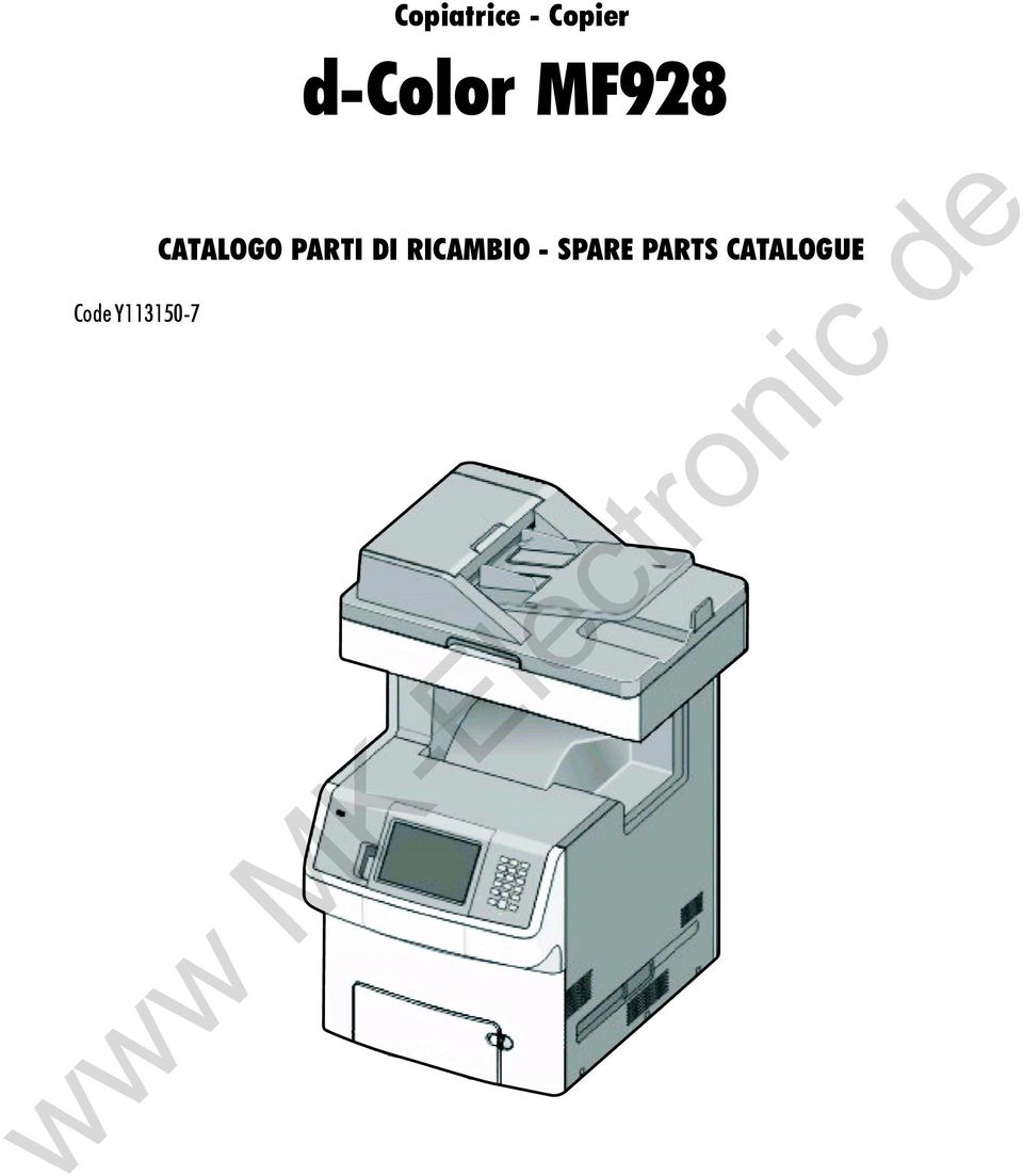 - SPARE PARTS CATALOGUE M