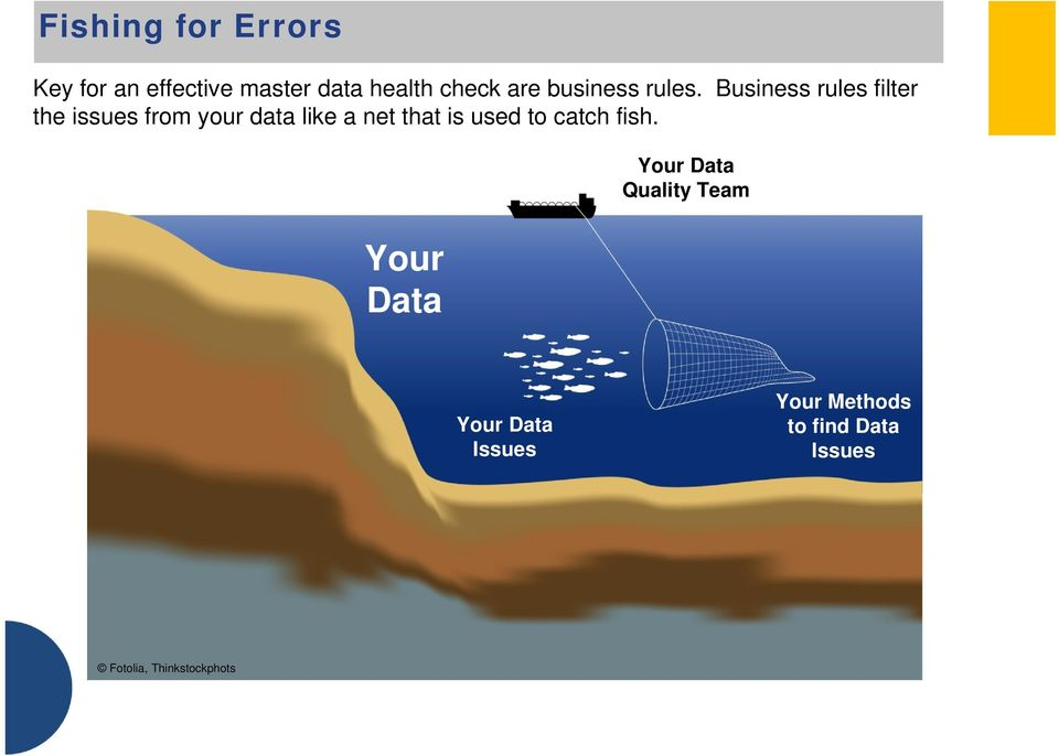 Business rules filter the issues from your data like a net that is