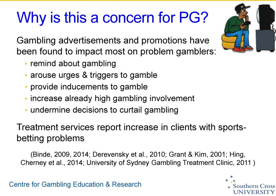 triggers to gamble provide inducements to gamble increase already high gambling involvement undermine decisions to curtail