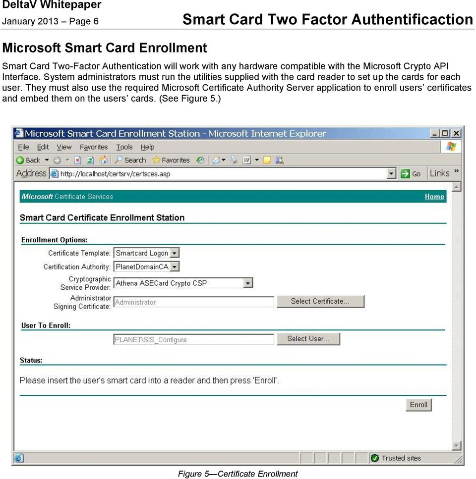 System administrators must run the utilities supplied with the card reader to set up the cards for each user.
