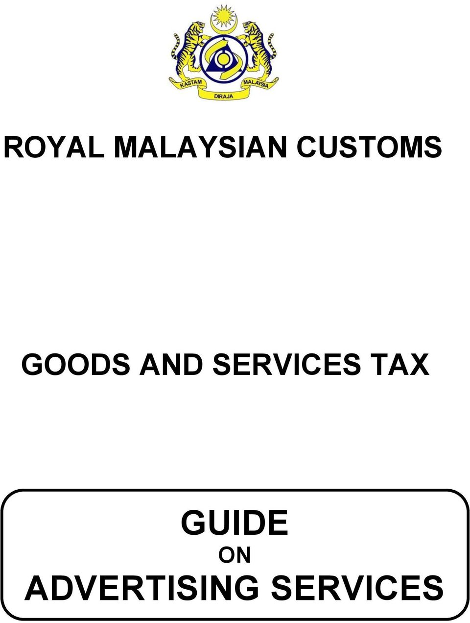 SERVICES TAX GUIDE