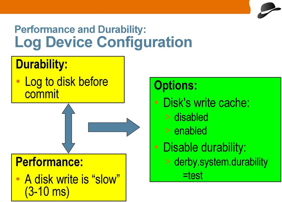 write cache: > disabled > enabled Performance: A disk