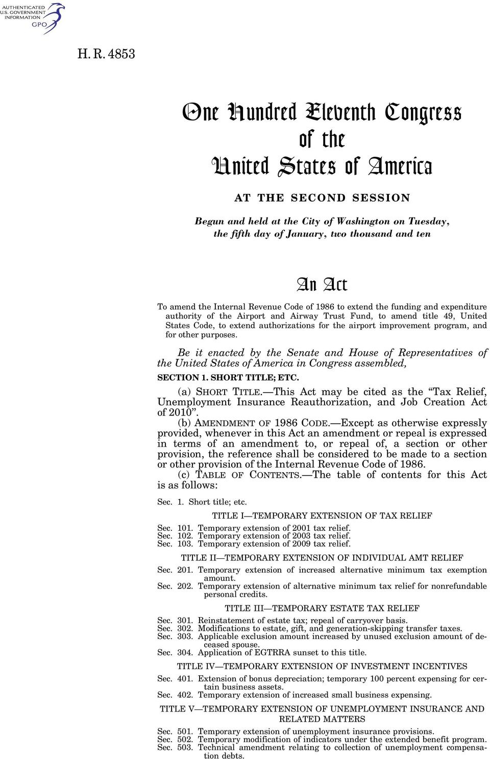 for the airport improvement program, and for other purposes. Be it enacted by the Senate and House of Representatives of the United States of America in Congress assembled, SECTION 1.