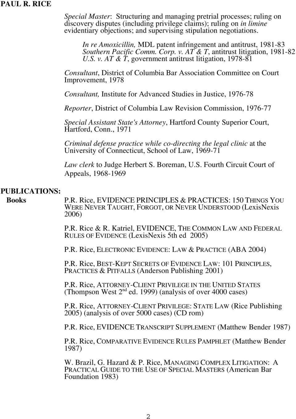 AT & T, antitrust litigation, 1981-82 U.S. v.