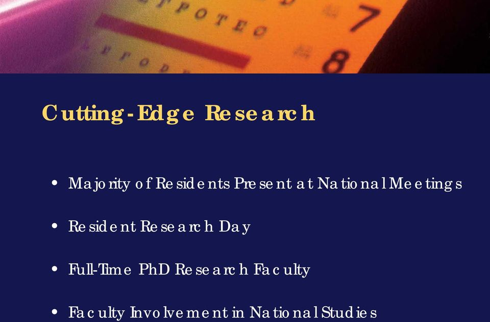 Resident Research Day Full-Time PhD