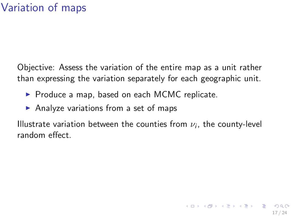 Produce a map, based on each MCMC replicate.