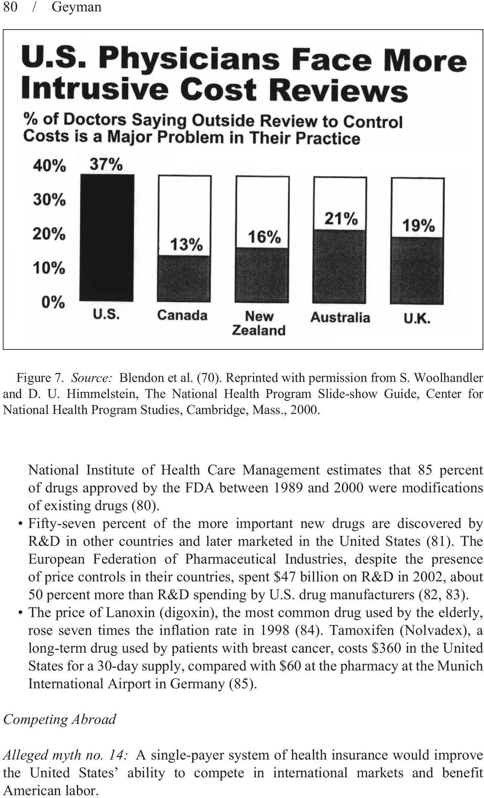 National Institute of Health Care Management estimates that 85 percent of drugs approved by the FDA between 1989 and 2000 were modifications of existing drugs (80).