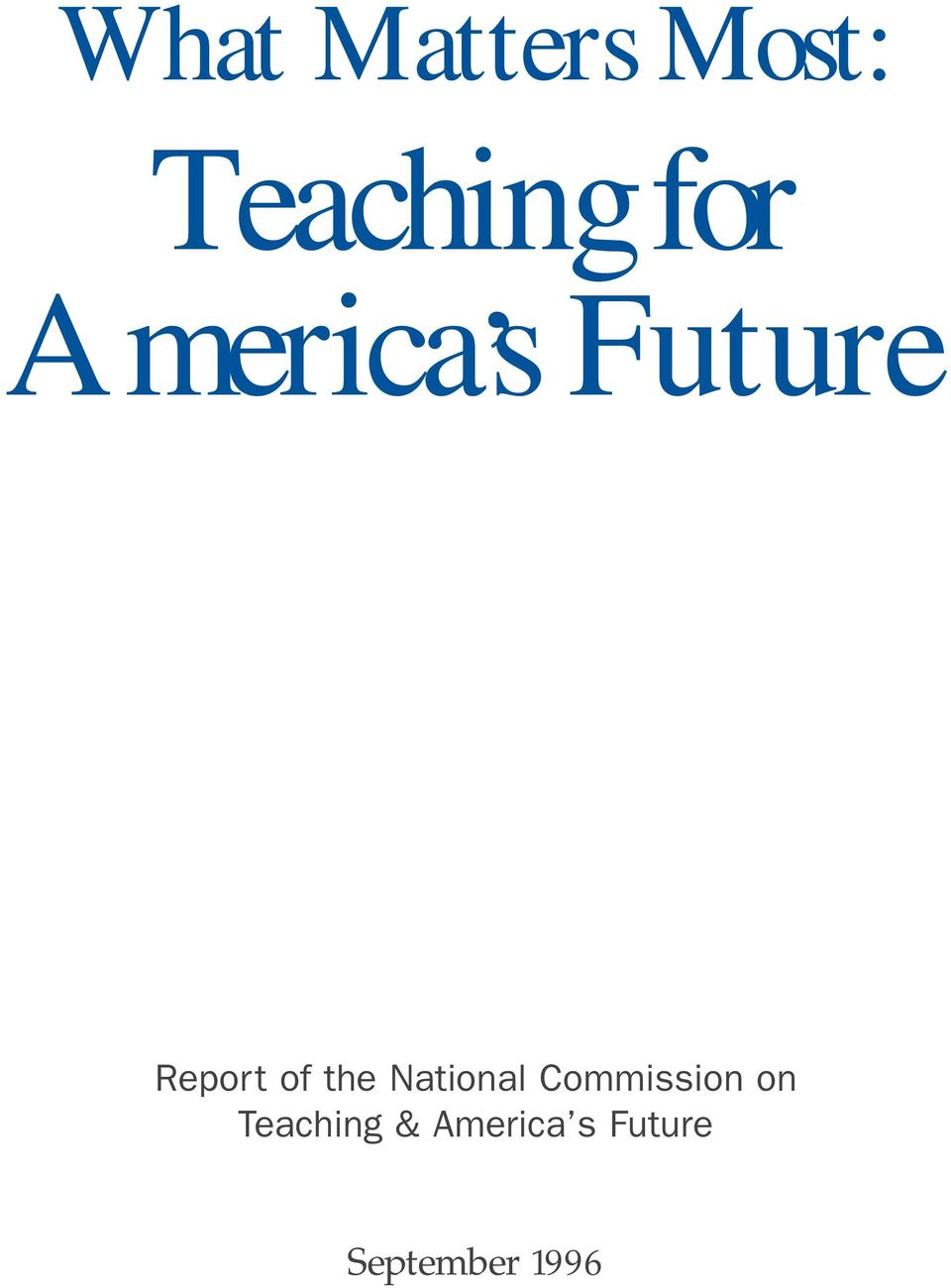National Commission on Teaching