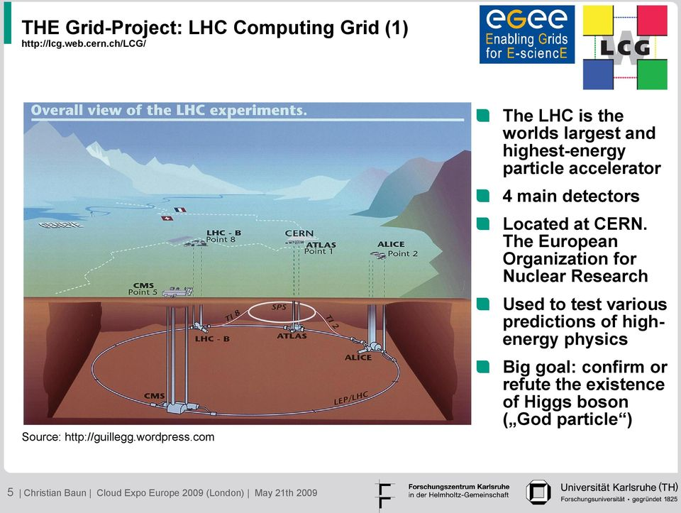The European Organization for Nuclear Research Used to test various predictions of highenergy physics Big goal: