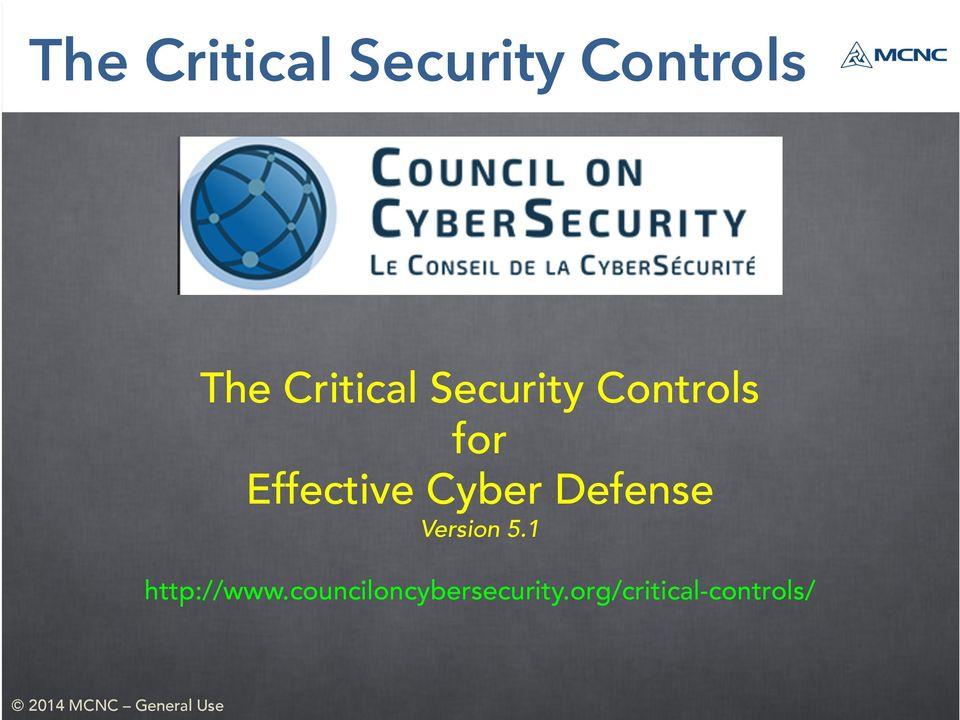 Effective Cyber Defense Version 5.