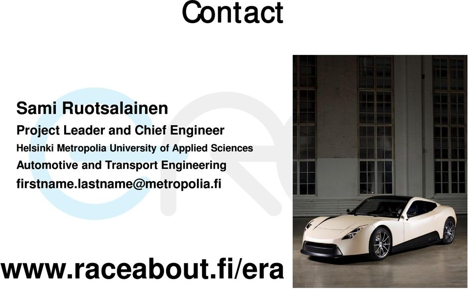 Sciences Automotive and Transport Engineering